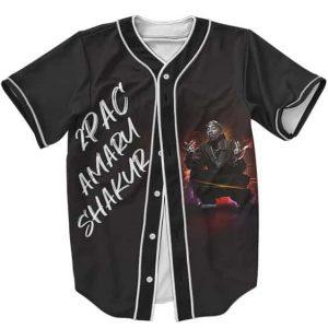 2Pac Amaru Shakur Badass Graffiti Style Dope Baseball Jersey