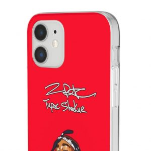 Angel 2Pac Makaveli Shakur Singing Awesome Red iPhone 12 Case