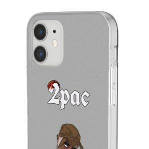 Awesome Hip-Hop Legend Tupac Makaveli Gray iPhone 12 Case