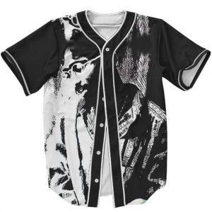 Awesome Black and White Sketch Art Tupac Amaru Baseball Jersey