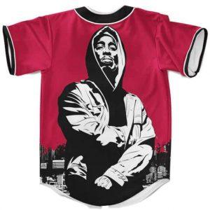 Badass Hip Hop 2Pac Shakur Makaveli Rapper Red Baseball Jersey
