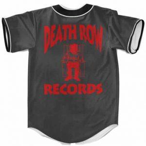 Deathrow Records Gangsta Rapper 2Pac Shakur Baseball Jersey