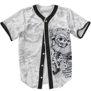 Rapper Tupac Makaveli Shakur All Tattoo Gangsta Baseball Jersey