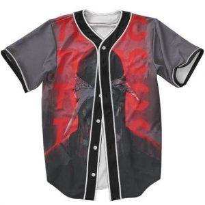 Retro Black & White Tupac Red Neon Dope Baseball Jersey