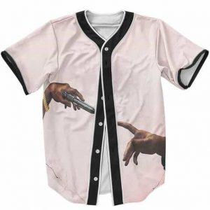 The Creation of Adam Art Tupac Shakur Design Baseball Jersey