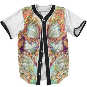 Tupac Makaveli Colorful Abstract MC New York Baseball Jersey