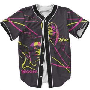 Tupac Shakur & Biggie Smalls Colorful Badass Baseball Jersey