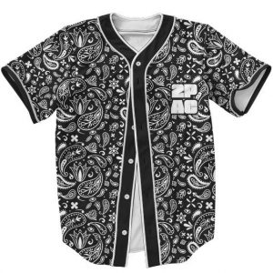 Tupac Shakur Gangsta Rapper Bandana Pattern Baseball Jersey