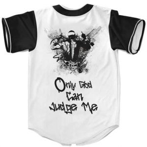 West Coast Style Tupac Only God Can Judge Me Baseball Jersey