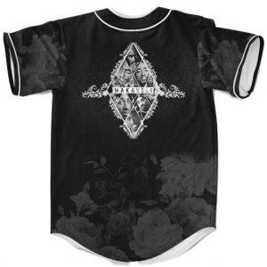 West Side Rapper Tupac Makaveli Floral Pattern Baseball Jersey