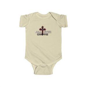 2Pac All Eyez On Me Cover Exodus Cross Baby Toddler Onesie