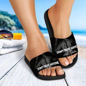 2Pac Amaru Shakur Don't Trust Anyone Amazing Slide Sandals