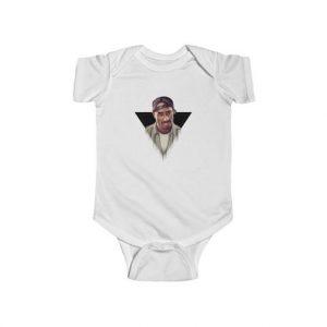 2Pac Amaru Shakur Hustlin White Sox Cap Baby Bodysuit