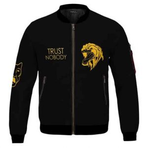 2Pac Gold Trust Nobody Thug Life And Panther Bomber Jacket