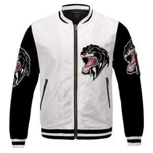 2Pac Shakur Left Bicep Black Panther Tattoo Varsity Jacket