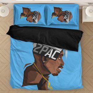 2pac Shakur Flat Design Art Illustration Dope Bedding Set