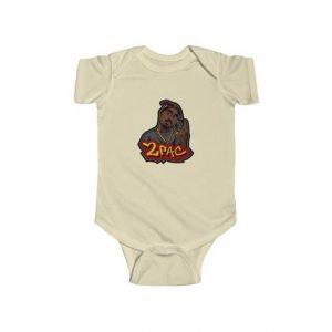2pac Shakur Hustlin Hand Sign Animated Art Baby Onesie