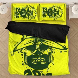 2pac Shakur Makaveli Is Alive Awesome Skull Neon Bedding Set