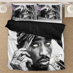 2pac Shakur Makaveli Zombie Design Illustration Bedding Set