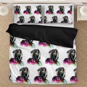 2pac Shakur Rainbow Colourful Artwork Amazing White Bedding Set