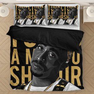 2pac Amaru Shakur Thug Life Gold Black Cool Bedding Set