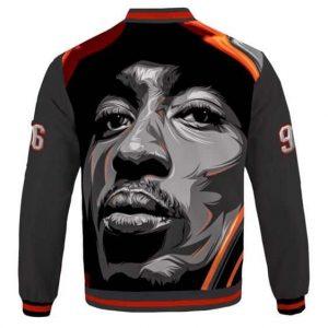 Amazing Tupac Makaveli Face Art 96 Tribute Varsity Jacket
