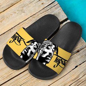 American Rapper Tupac Shakur Thug Life Art Slide Sandals