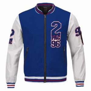 Awesome American Rapper 2Pac 96 Blue Varsity Jacket