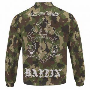 Awesome Tupac Shakur Body Tattoos Camouflage Bomber Jacket
