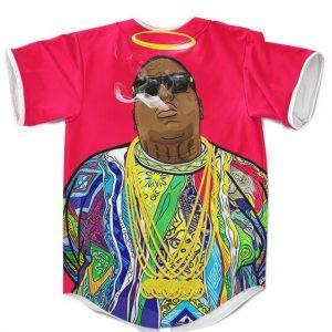 The Notorious BIG Smoking Graffiti Art Dope Baseball Shirt