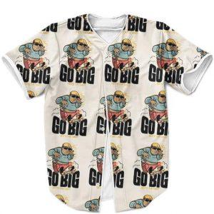 The Notorious BIG Cool Cartoon Pattern Brown Baseball Shirt