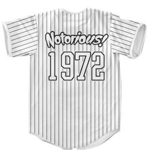 The Notorious Biggie Smalls Minimalist White Pinstripes Baseball Uniform