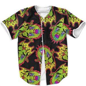 Big Poppa Biggie Smalls Zombie Acid Drip Pop Culture Black Baseball Jersey