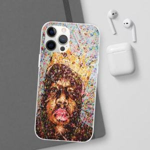 Biggie Smalls Paint Splattered Art iPhone 12 Fitted Cover