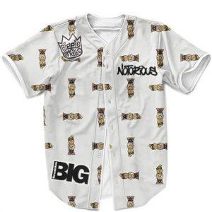 Biggie Smalls The Notorious BIG Minimalist Pattern Gray Cool Baseball Shirt