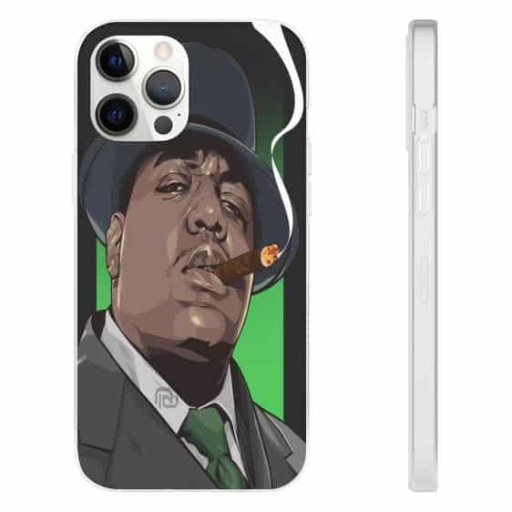 Biggie Wearing Suit Smoking A Cigar iPhone 12 Fitted Cover