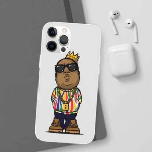 Chibi Biggie Smalls Gold Necklace With Crown iPhone 12 Case