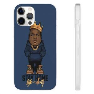 Chibi Biggie Stay Home Life Or Death iPhone 12 Fitted Cover