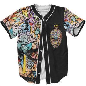 Classic Graffiti Street Art Tupac Makaveli Shakur Baseball Jersey