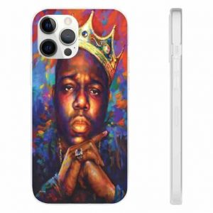 Crowned Biggie Smalls Abstract Multicolor Art iPhone 12 Cover