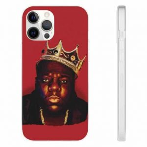 Crowned Gangsta Rapper Notorious B.I.G. Red iPhone 12 Case