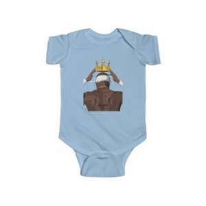 Crowning Legend 2Pac Makaveli Back View Dope Baby Bodysuit
