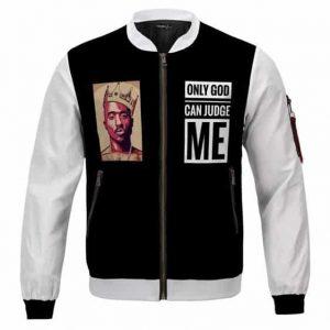 Dope Tupac Only God Can Judge Me Black Varsity Jacket