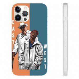 East And West King Biggie Smalls And 2Pac iPhone 12 Case
