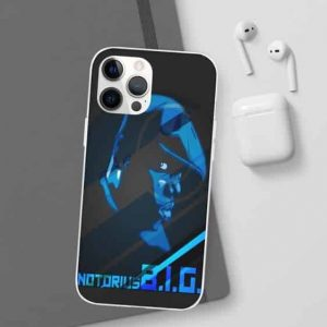 East Coast Notorious B.I.G. Blue Silhouette iPhone 12 Cover