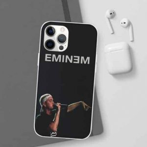 Eminem Performing His Craft iPhone 12 Fitted Cover