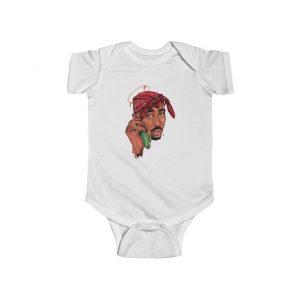 Epic Tupac Amaru Shakur Money Fame Tribute Baby Onesie