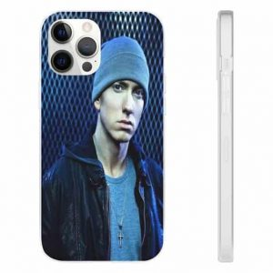 Famous Rap Icon Eminem Blue iPhone 12 Fitted Cover