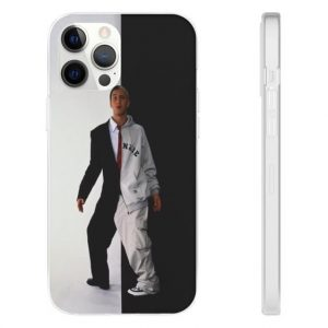 Formal & Casual Attire White And Black Eminem iPhone 12 Cover