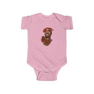 Gangsta 2Pac Shakur West Coast Roses Tribute Baby Onesie